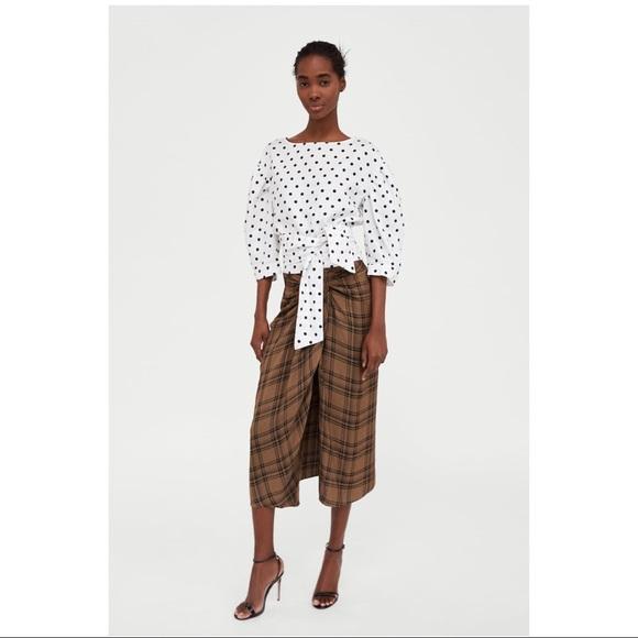 Zara Dresses & Skirts - Zara Checked MIDI skirt worn once